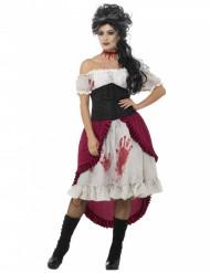 Blodig cancan - Halloweenkostym för vuxna