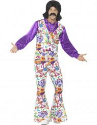 Hippiemönstrad discodräkt - Maskeradkläder för vuxna