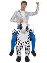 Rider på en kossa - Carry me-dräkt för vuxna