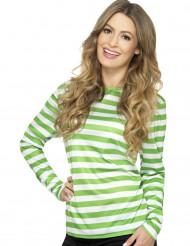 Randig långärmad tröja för vuxna