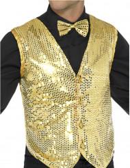Gyllene paljettväst - Maskeradkläder för vuxna