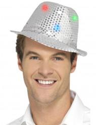 Glittrig silverbolero-hatt med LED