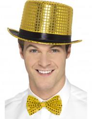 Guldfärgad hatt med paljetter vuxen