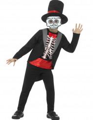 Gentleman skelett -Halloweenkostym för barn