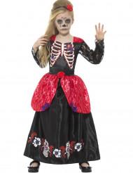 De dödas dag-prinsessa - Halloweenkostym för barn