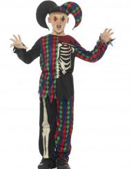 Kunligt skelett-narr - Halloweenkostym för barn