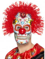 Clownmask i Dia de los Muertos-stil