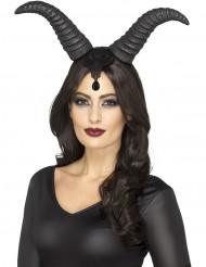 Djävulsdrottningens horn - Halloween tillbehör