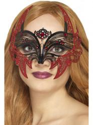 Fladdermus - Venetiansk mask i metall till Halloween