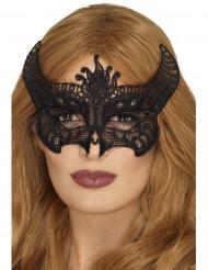 Demon med spets - Halloweenmask för vuxna