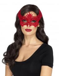 Djävulvsmask i rött för damer - Halloween Masker