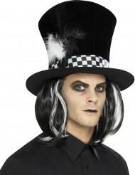 Hög cylinderhatt med hår - Halloweenhattar för vuxna