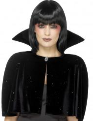 Svart cape med krage - Halloweentillbehör