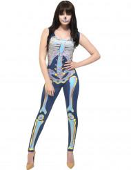 Sexig skelett overall - Halloweenkostym för vuxna