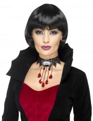 Gotisk tätsittande vampyrhalsband - Halloween tillbehör