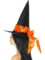 Häxhatt med oranget band - Halloweenhattar för vuxna