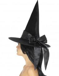 Häxhatt med svart rosett - Halloweenhattar för vuxna