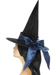 Svart häxhatt med blått band - Halloweenhattar för vuxna