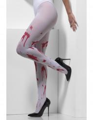 Blodiga strumpbyxor för vuxna till Halloween