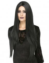 Halloweenhår - Svart & värmetålig peruk