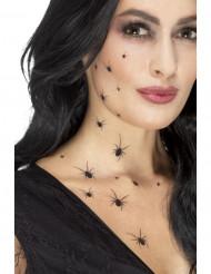 Tillfälliga tatueringar spindlar