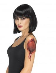 Blixtlås i huden - Fusktatuering till Halloween