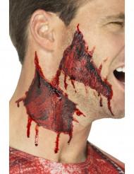 Öppna sår på halsen - Tatuering för Halloweensminknign