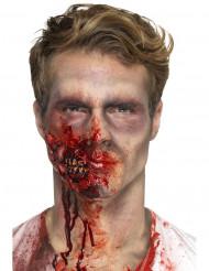 Zombie käft i latex för vuxna - Halloween sminkning