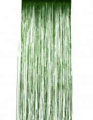 Grön glitterridå