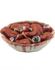 Skål med ögon och tungor - Halloweendekoration