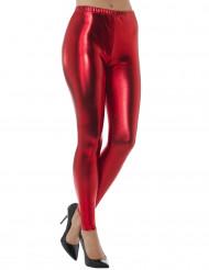 Metalliskt röda leggings