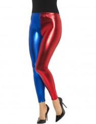 Harlekinens rödblåa leggings - Halloweentillbehör