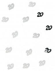 Konfetti för 20-årsfesten