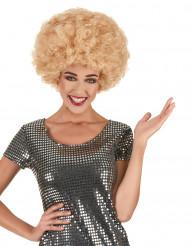 Blond discoafro för vuxna