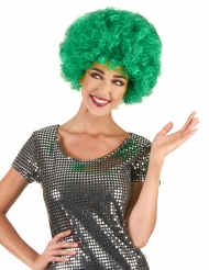 Grön afroperuk för vuxna