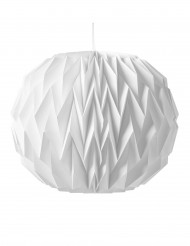 Origami boll i vitt 28 x 37 cm