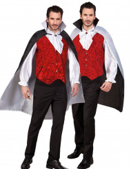 Svartvit Halloweenkåpa för vuxna - Halloween tillbehör