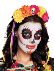 Blommor och skallar - Diadem till Dia de los Muertos