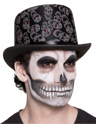 Cylinderhatt med dödskallar - Halloweenhattar