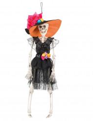 Skelett i söndagshatt - Halloweendekor i Dia de los Muertos-stil