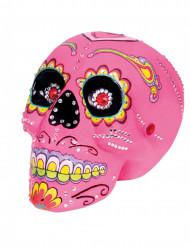 Sugarskull i rosa - Halloweendekoration