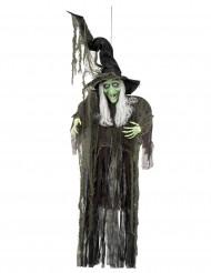 Grön häxa i verklig storlek - Hängande Halloweendekor 190 cm