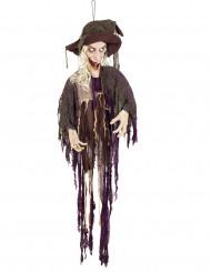 Jättehäxa - Halloweendekor med ljus och ljus 170 cm