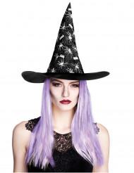 Häxhatt med lila hår - Hatt till Halloween