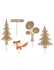 5 Tårtdekorationer med skogsmotiv