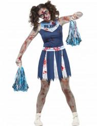 Cheerleaderzombie - Halloweenkostym för tonåringar