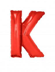 Bokstaven K - Aluminiumballong i rött 102 cm