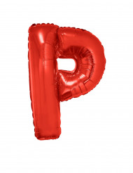 Bokstaven P - Aluminiumballong i rött 102 cm