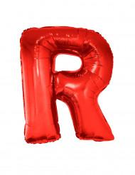 Bokstaven R - Aluminiumballong i rött 102 cm
