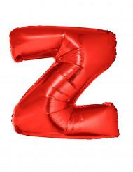 Bokstaven Z - Aluminiumballong i rött 102 cm